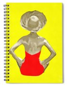 Bathing Beauty Red Suit Painting Spiral Notebook