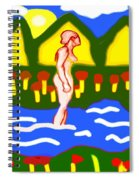 Bathing In A Mountain Stream Spiral Notebook