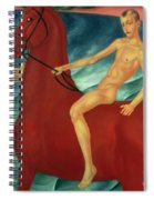 Bathing Of The Red Horse Spiral Notebook