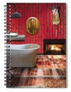 Bathroom Retro Style Spiral Notebook