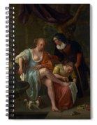 Bathsheba After The Bath Spiral Notebook