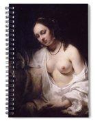 Bathsheba With David's Letter Spiral Notebook