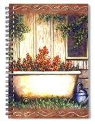 Bathtub Garden Spiral Notebook