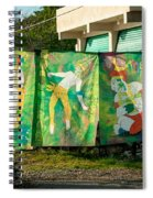 Batik Studio At Coba Village Spiral Notebook