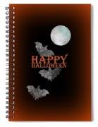 Bats And The Moonlight - Happy Halloween Spiral Notebook