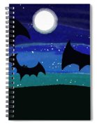 Bats At Night Spiral Notebook