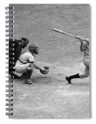 Batter Swings Strike At Home Plate Spiral Notebook