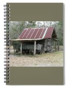 Battered Barn And Weathered Wagon Spiral Notebook
