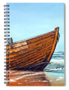Battered By The Sea Spiral Notebook