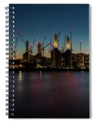 Battersea Power Station On The Thames, London Spiral Notebook