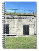 Battery Ferdinand Claiborne Spiral Notebook