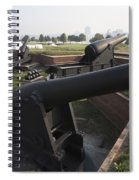 Battery Of Cannons At Fort Mchenry Spiral Notebook