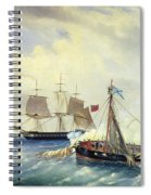 Battle Between The Russian Ship Opyt And A British Frigate Off The Coast Of Nargen Island  Spiral Notebook