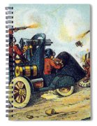 Battle Cars, 1900s French Postcard Spiral Notebook