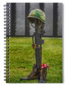 Battle Field Cross At The Traveling Wall Spiral Notebook