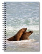 Battle For The Beach Spiral Notebook