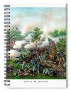 Battle Of Atlanta Spiral Notebook