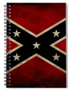 Battle Scarred Confederate Flag Spiral Notebook