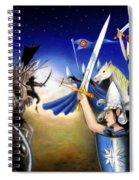 Battle Under The Stars Spiral Notebook