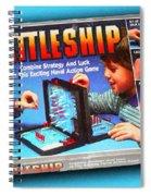 Battleship Board Game Painting  Spiral Notebook