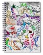 Battling Kites -- Gray Spiral Notebook
