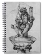 Bauer Goose With A Fountain Figure Spiral Notebook