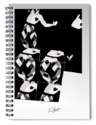 Bauhaus Ballet 2 The Cubist Harlequin Spiral Notebook