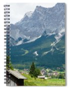 Bavarian Alps With Shed Spiral Notebook