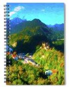 Bavarian Countryside Spiral Notebook