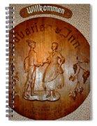 Bavarian Inn Willkommen Spiral Notebook