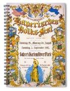 Bavarian Volksfest New York Vintage Poster 1897 Spiral Notebook