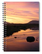 Baxter State Park At Sunset Spiral Notebook
