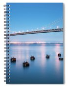 Bay Bridge Blues, San Francisco Spiral Notebook