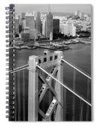 Bay Bridge Tower And San Francisco Skyline Spiral Notebook