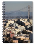 Bay Bridge With Houses And Hills Spiral Notebook