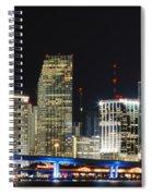 Bay Front Miami Skyline Spiral Notebook