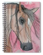 Bay Horse Watercolor Spiral Notebook