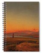Bay Near Valparaiso Spiral Notebook