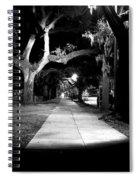 Bay Street Midnight Path Spiral Notebook