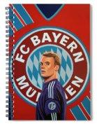 Bayern Munchen Painting Spiral Notebook