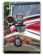 Bayliss Thomas Badge And Hood Ornament Spiral Notebook