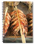 Bbq Fresh Grilled Prawns In Kep Market Cambodia Spiral Notebook