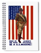 Be A Us Marine Spiral Notebook