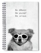 Be Different Be Yoursef Be Unique Spiral Notebook