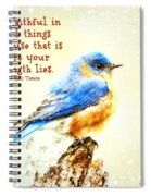 Be Faithful In Small Things Spiral Notebook
