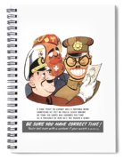 Be Sure You Have Correct Time Propaganda Spiral Notebook