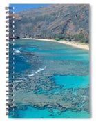 Beach And Haunama Bay, Oahu, Hawaii Spiral Notebook