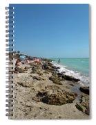 Beach And Rocks Spiral Notebook