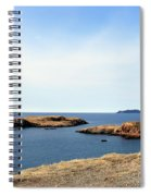 Beach And Rocky Shoreline Spiral Notebook