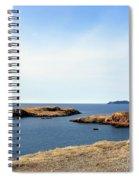 Beach And Rocky Shoreline Spiral Notebook